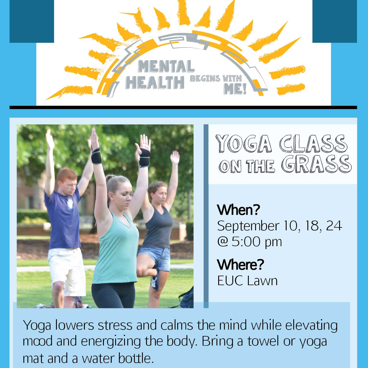 Yoga on the lawn Poster